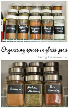 Organizing spices in