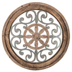 Vintage Metal Wall Decor Rustic Wood Hanging Decoration Living Room Hall Accent  #NeedfulThings #Rustic