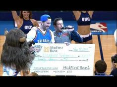 ▶ OKC Fan Hits Half Court Shot for 20k! - Watch This Amazing moment, as an OKC fan hits the half court shot to win 20 thousand dollars!