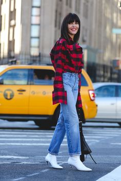 The Fall Bootie That Fashion Editors Are Replacing Their Suede Ones For #refinery29  http://www.refinery29.com/white-boots#slide-1  Our favorite versions come in a little kitten heel and a pointed toe....