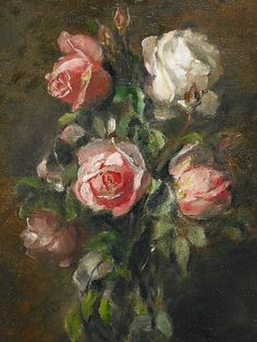 Emma Ekwell  Still Life with Roses  19th century
