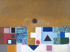 Victor Pasmore, 'Square Motif, Blue and Gold: The Eclipse' 1950