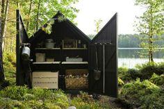 schitterende locatie tuinhuisje