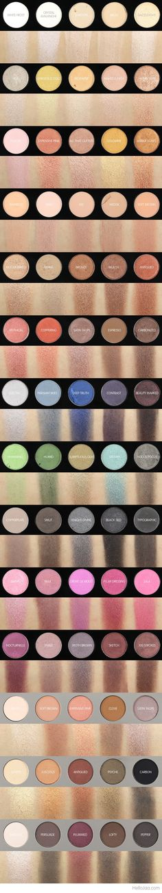 My MAC Eyeshadow Collection + Swatches and Brief Formula Review