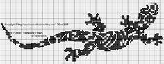 Bonjour, Je vous offre cette jolie salamandre suite à une demande. Passez un bon dimanche et bonne fête à toutes les mamies. Crochet Chart, Filet Crochet, Loom Beading, Beading Patterns, Pixel Drawing, Cross Stitch Boards, Cross Stitch Animals, Beaded Animals, Craft Corner
