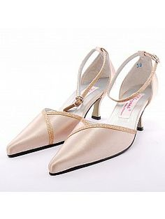 Pointy Toes High Heel Wedding Shoes with Glittering Ankle Straps - USD $88.00