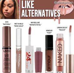 Kylie Jenner lip gloss dupes for Like Kylie Jenner Lipstick, Make Up Kylie Jenner, Jenner Makeup, Kylie Lip Kit, Kylie Makeup, Dupes Nyx, Drugstore Makeup Dupes, Lipstick Dupes, Beauty Dupes