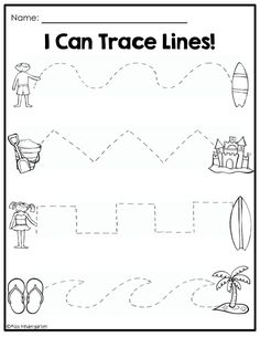 Tracing Practice! TONS of printable for Pre-K