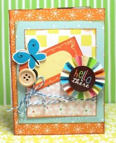 """""""Hello there"""" card with American Crafts Gardenia"""