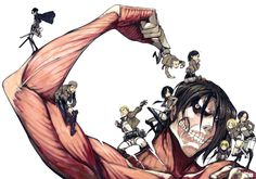 I thought this was cute! Heh.....Eren With all his friends!!