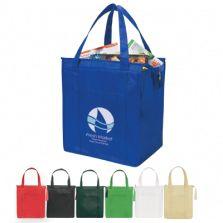 Non-woven, insulated shopping bag