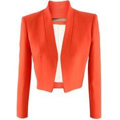 Victoria Beckham Sunset Orange Jacket 006