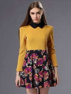 Rose Print Slim Dress  Was: 39.64$ Now: 20.33$