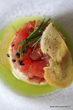 Ristorante KIDO-Ism – Torino – Chef Takashi Kido | Tartare di tonno, crema di sesamo bianco e erba cipollina