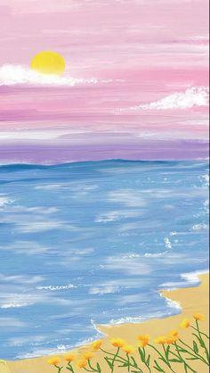 Blue Butterfly Wallpaper, Cute Pastel Wallpaper, Flower Phone Wallpaper, Cute Patterns Wallpaper, Iphone Background Wallpaper, Scenery Wallpaper, Aesthetic Pastel Wallpaper, Painting Wallpaper, Cute Cartoon Wallpapers