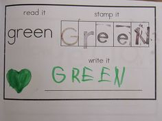 color word stamping books