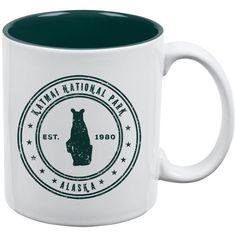 Katmai National Park Vintage All Over Coffee Mug