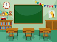 Simple Background Images, Kids Background, Animation Background, Powerpoint Background Templates, School Border, Body Preschool, Teacher Cartoon, Classroom Background, Education Icon