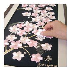 寄書きウェルカムボード 雅梢桜