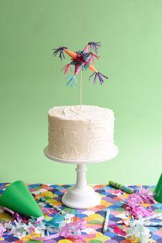DIY Mini Piñata Cake Topper + Decor