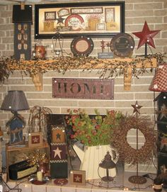 Way to much going on but I love the primitive pieces...:))
