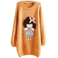 Fashion Womens Casual Spring Mohair Pullover Sweater Korean Girl Casual Jumper, Small, Orange Fancy Dress Store,http://www.amazon.com/dp/B00IJNEQTG/ref=cm_sw_r_pi_dp_czDbtb1GDKN985M5