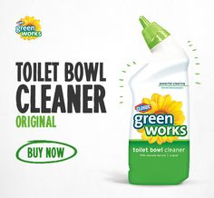 Green Works Toilet Bowl Cleaner gives you a sparkling clean toilet without the harsh chemical fumes.
