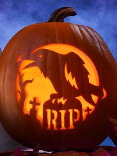 Crow-RIP-Pumpkin-Carving-Design