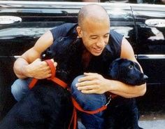 VIN DIESEL WITH HIS DOG #celebrities #dogs #pets