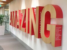 Dimensional Letterforms / Big Wall Installation