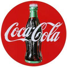 Coca Cola Disc Tin Sign