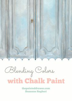 How to Blend and Mix Chalk Paint for a custom finish.