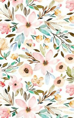 Watercolor floral design by indybloomdesign watercolor flower background, watercolor floral wallpaper Watercolor Wallpaper, Flower Wallpaper, Pattern Wallpaper, Watercolor Flowers, Wallpaper Backgrounds, Iphone Wallpaper, Fabric Wallpaper, Painting Flowers, Watercolor Design
