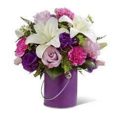 casablanca lily PURPLE AND WHITE - Google Search