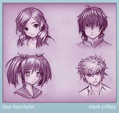 Four Hairstyles by markcrilley.deviantart.com on @deviantART EPIC!!!!!!!!!!!!!!!!!