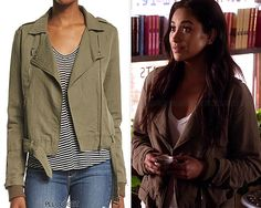 Also available HERE & HERE. Emily will wear this jacket in 7x08 'Exes and OMGs'. Paige Denim 'Marjorie Jacket' - $295.00