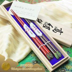 Traditional lacquered chopstick  Traditional Tsugaru Nuri Raden Gekko Nanako Mon Couple of Chopsticks 2pcs (two pairs) with Paulownia