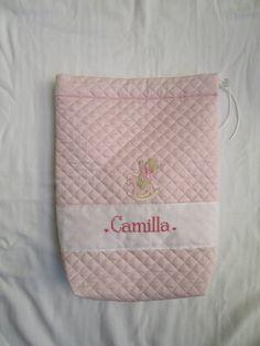 sacchetto clinica trapuntato personalizzato  per Camilla; sito web: http://lecreazionidimichela.it.gg/HOME.htm