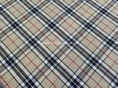 Beige large checks Tartan stripes check Tartan Polyester Viscose checks dress making tartans Scottish patchwork fabric - By the Metre
