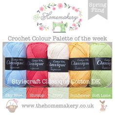 Spring Fling - Stylecraft Classique Cotton DK £21.25 http://www.thehomemakery.co.uk/wool-yarn/yarn-packs/spring-fling-stylecraft-classique-cotton-dk