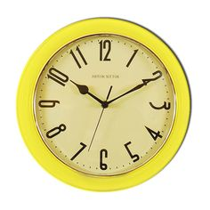 Retro Yellow wall clock