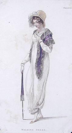 1809 Walking Dress from Ackermann's Repository.