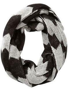 chevron oversized infinity scarf / michael kors