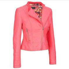 NwT Plus Size Rivet Faux Leather Asymmetric Moto *New with Tag* -  Plus Size Rivet Faux Leather Asymmetric Moto Jacket   A MUST have! Super chic faux leather jacket for any curvy girls wardrobe Color: Guava Wilsons Leather Jackets & Coats