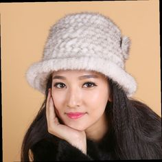 43.00$  Watch now - http://alidv9.worldwells.pw/go.php?t=32698118400 - The new Ms. Mink fur hat knit hat autumn and winter fashion warm hat mink cashmere hat 43.00$