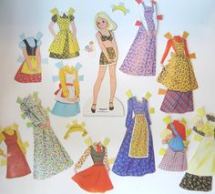 Mattel 1970s The Sunshine Family, Baby Doll, Clothing, Mom.  I had/have this family of paperdolls.  loved playing with them as a kid