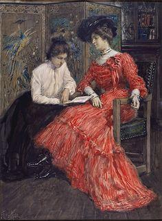 F. Luis Mora (American (born Uruguay), 1874–1940). Mrs. F. Luis Mora and Her Sister, 1902.