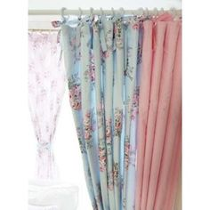 Amazon.com: Shabby Chic Blue Rose and Pink Gingham with Ties ...