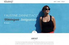 Faustine ZANNETTACCI - Graphiste Webdesigner - Lyon - #Webdesign #inspiration www.niceoneilike.com