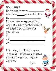 letter to santa free printable christmas ideas pinterest